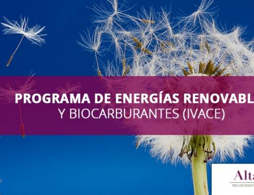 PROGRAMA DE ENERGÍAS RENOVABLES Y BIOCARBURANTES (IVACE)
