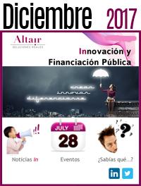 NEWS Innvoación y Financiación Pública Diciembre 2017