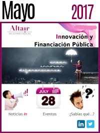 NEWS Innovación y Financación Pública Mayo 2017