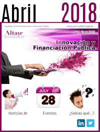 NEWS Innovación y Financiación Pública Abril 2018