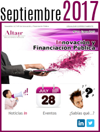 NEWS Innovación y Financiación Pública Septiembre 2017