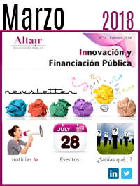 NEWS Innovación y Financiación Pública Marzo 2018