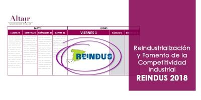 Reindustrialización y Fomento de la Competitividad Industrial - REINDUS 2018
