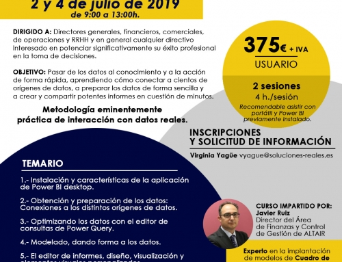 [CASTELLÓN] CURSO DE BUSINESS INTELLIGENCE CON POWER BI