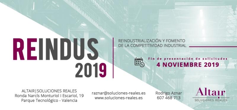 REINDUS2019 - convocatoria